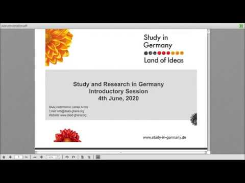 DAAD Ghana Webinar: Study and Research in Germany