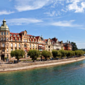 Waterfront in Constance at Lake Constance.
